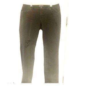 CABI 14 holey black stretchy Jeans